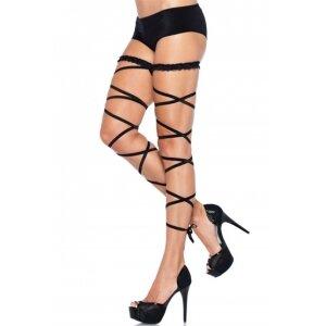Подвязка черная с длинной лентой