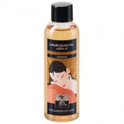 Съедобное массажное масло Luxury Body Oil Cinnamon с ароматом корицы, 100 мл