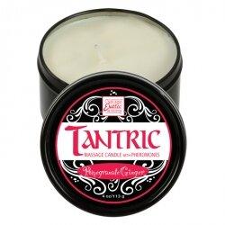 Массажная свеча с феромонами - аромат граната и имбиря TANTRIC POMEGRANATE GINGER, 113 гр