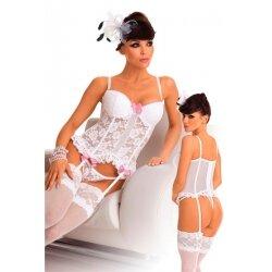 Roxana комплект ажурный, с розовыми бантиками