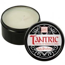 Ароматическая свеча для массажа Tantric Tasty Strawberry, запах сладкой клубники, 170 гр