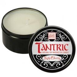 Массажная свеча с феромонами Tantric Tasty Cherry, вишня, 170 гр