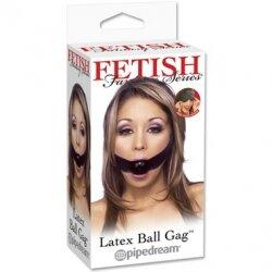 Кляп Latex Ball Gag с ремешком на липучке