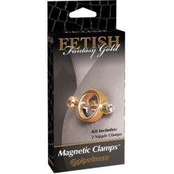 Стильные зажимы для сосков Gold Magnetic Clamps
