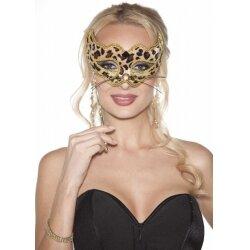 Маска на глаза леопардовая