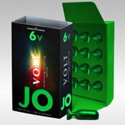 Возбуждающая сыворотка мягкого действия JO Volt 6 VOLT, 12 капсул