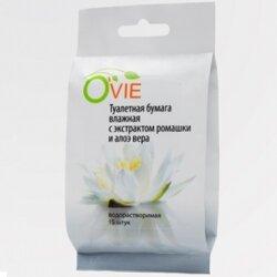 Ovie влажная туалетная бумага, с ромашкой и алоэ