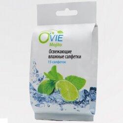 Ovie влажные салфетки с освежающим эффектом, махито