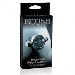 Зажимы на соски с магнитами Magnetic Nipple Clamps из металла