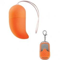 Оранжевое виброяйцо Vibrating G-spot Egg medium с пультом ДУ – 10 режимов вибрации