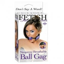 Кляп на ремешках Breathable Ball Gag сиреневый и маска