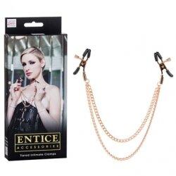 Зажимы с цепями для сосков Entice Tiered Intimate Clamps