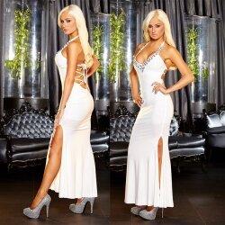 Белое платье со шнуровкой на спине