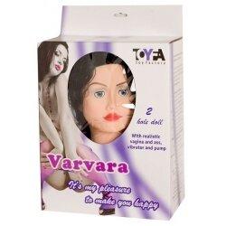 Надувная секс-кукла Варвара с реалистичными вставками с вибрацией+насос