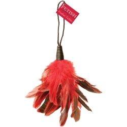 Красно-чёрный тиклер из пушистых перьев